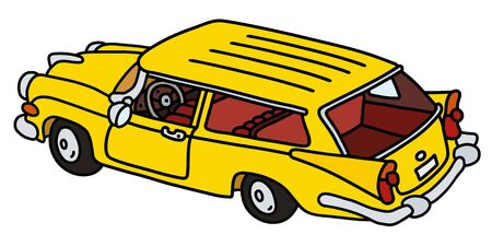 The funny old yellow station wagon