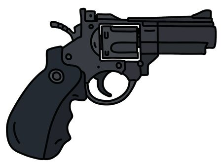 The modern black heavy short revolver