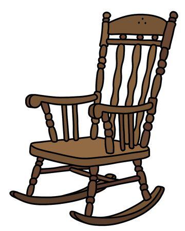 La sedia a dondolo vintage in legno