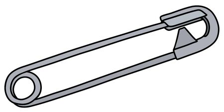 The classic steel safety pin Illustration
