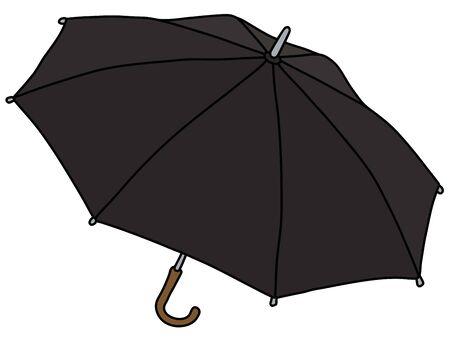 Der klassische schwarze Regenschirm