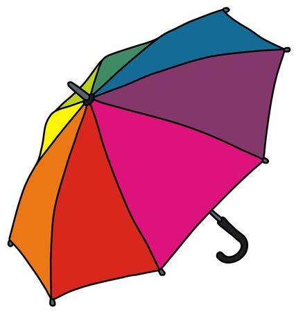 The funny rainbow color umbrella