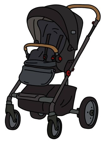 The black sport seat stroller Foto de archivo - 131424313