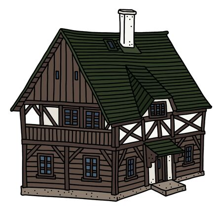 The old half timbered house Vecteurs