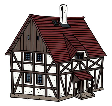 The vintage half timbered house