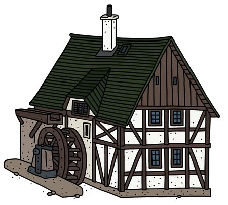 The historic half timbered water mill