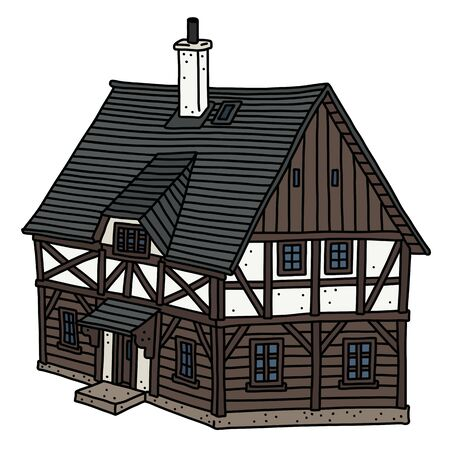 The historic half timbered house