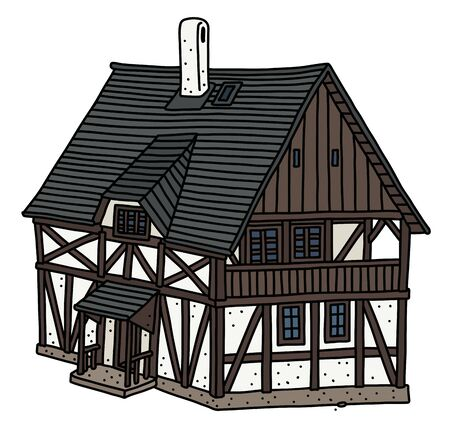 The historic half timbered house Vecteurs