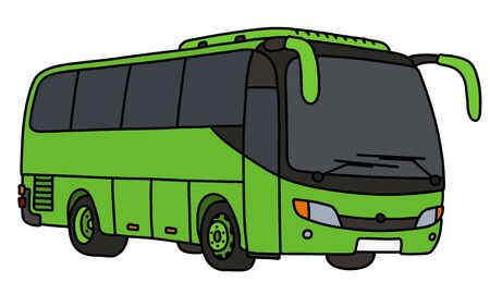 The light green touristic bus