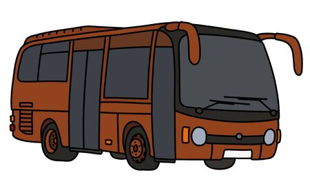 The brown bus