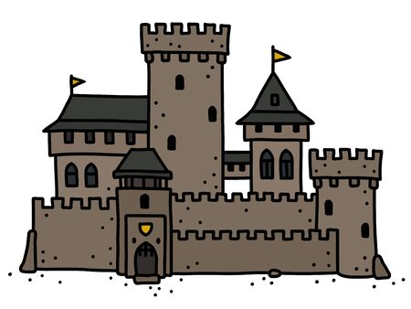 The old stone castle Ilustrace