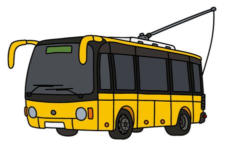 The yellow trolley bus Illustration