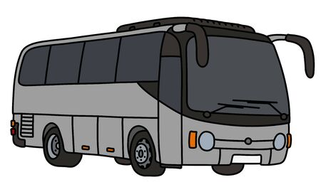 The gray touristic bus