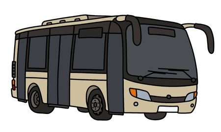 The light beige city bus