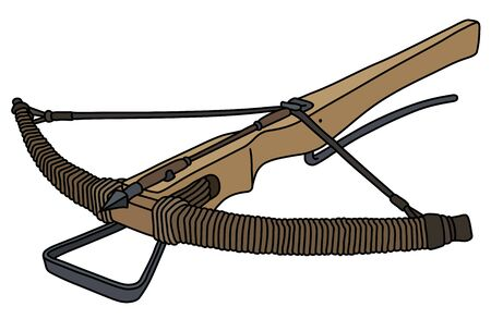 The historical wooden crossbow Иллюстрация