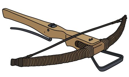 The historical wooden crossbow Vettoriali
