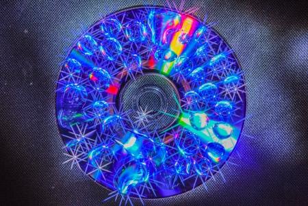 radiative: A laser disk is radiative light