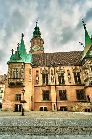 Old City Hall on Market Square in Wroclaw. Wroclaw, Lower Silesian Poland. Stock Photo