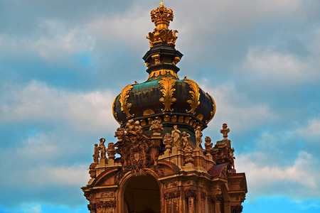 Dresden Cathedral of the Holy Trinity or Hofkirche, Dresden Castle in Dresden, Saxony, Germany.