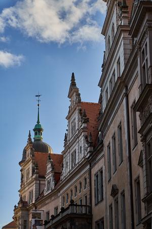 Landmarks of Saxony Germany - elegant baroque city Dresden, popular touristic attraction. Standard-Bild - 112839684