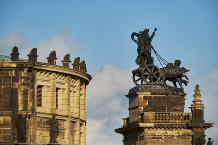 Landmarks of Saxony Germany - elegant baroque city Dresden, popular touristic attraction. Standard-Bild