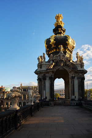 Zwinger art gallery and museum in Dresden, Saxony Germany. Standard-Bild