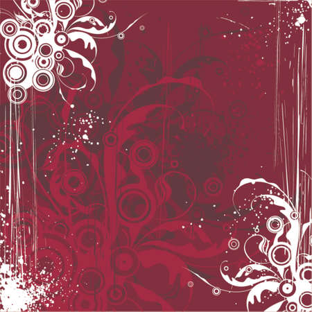 maroon floral background Stock Vector - 937432
