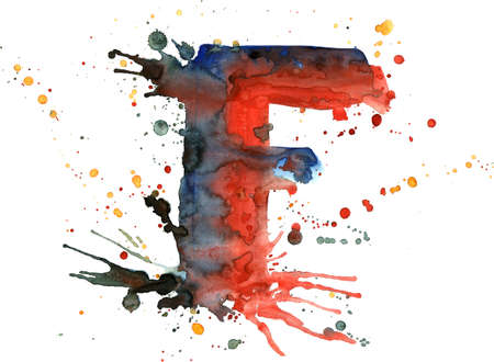 watercolor paint - letter F Stock Photo - 2710317