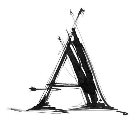 Alphabet symbol - letter A photo