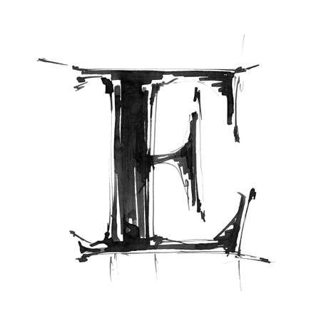 Alphabet symbol - letter E