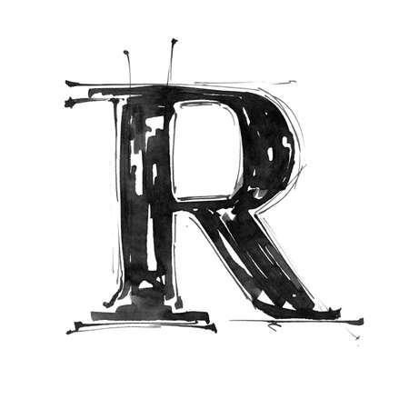 Alphabet symbol - letter R
