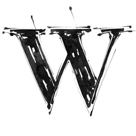 Alphabet symbol - letter W Zdjęcie Seryjne