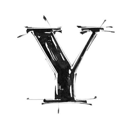 Alphabet symbol - letter Y