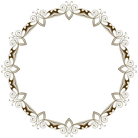 Vintage radial floral frame Ilustracja