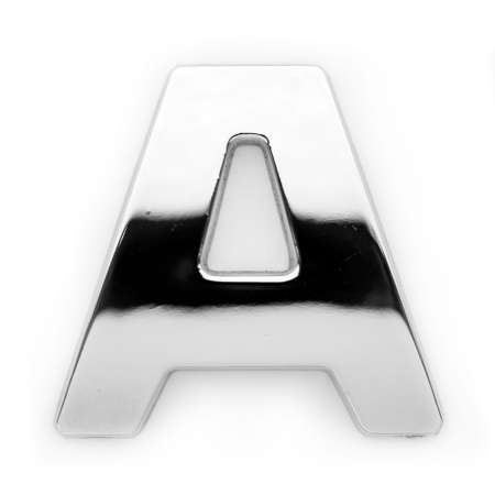 A - Metal alphabet symbol Zdjęcie Seryjne