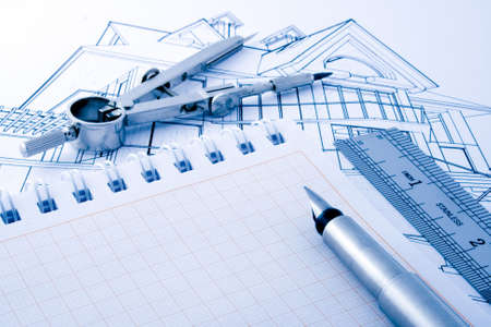 architecture draw & instruments Stock Photo - 3803841