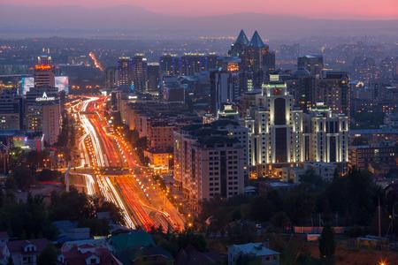 Almaty, Kazakhstan - August 26, 2017: General view of the Avenue Al-Farabi