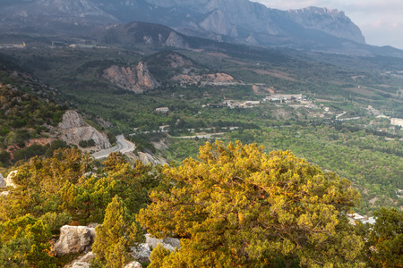 Picturesque road in the mountains of Crimea