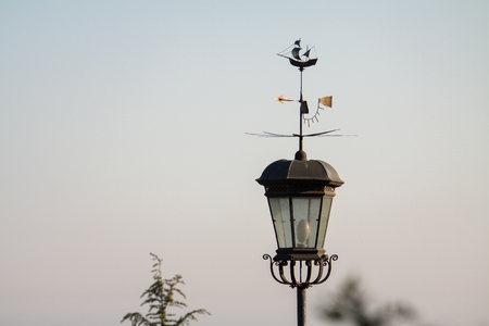 Glass street lamp antique close-up in the Crimea. Фото со стока