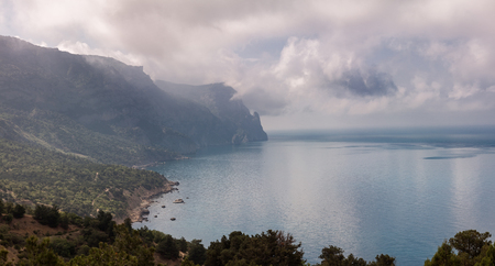 View of Cape Aya on the southern coast of Crimea.