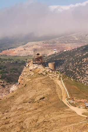 View of the old Genoas fortress Chembalo, Crimea, Russia.