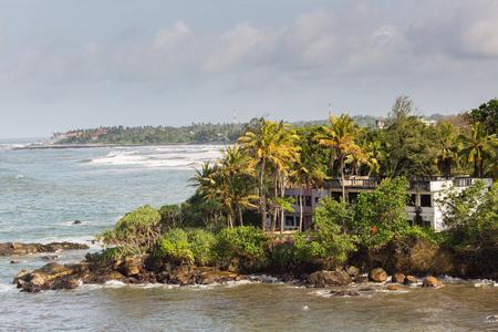 A view on Galle shoreline, Sri Lanka.