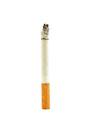 hot cigarette isolated on white photo