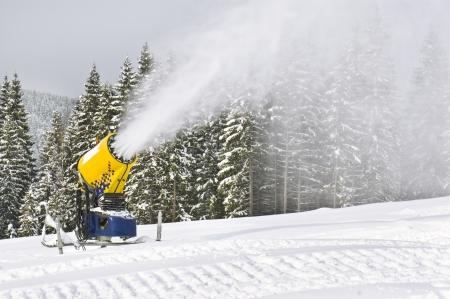 working snowgun in the photo