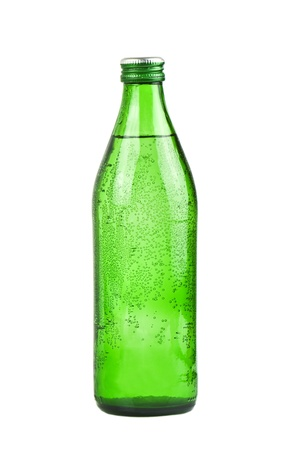 green bottle of soda water photo
