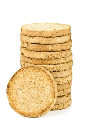 dietetic: dietetic biscuits on white background Stock Photo