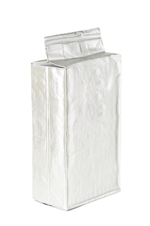 coffee packaging on white background photo