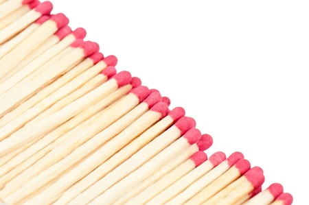red matches on white background Stock Photo - 19339229