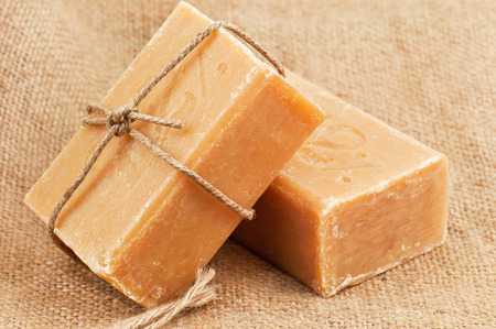 two bare of brown soap