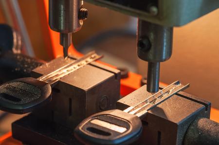 professional machine makes a new keys 写真素材